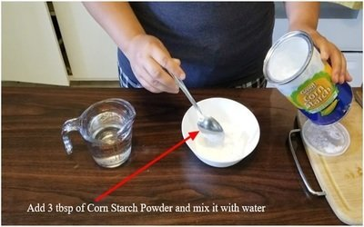 Add 3 tbsp of Corn Starch