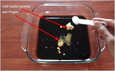 Add Garlic powder and Pepper
