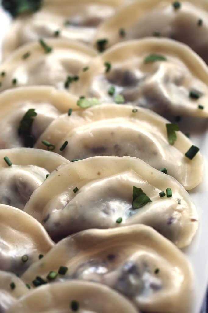 Oyster mushroom dumplings