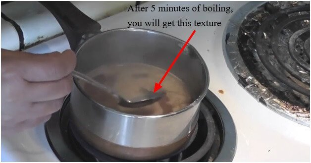 After 5 minutes of boiling, you will get this texture