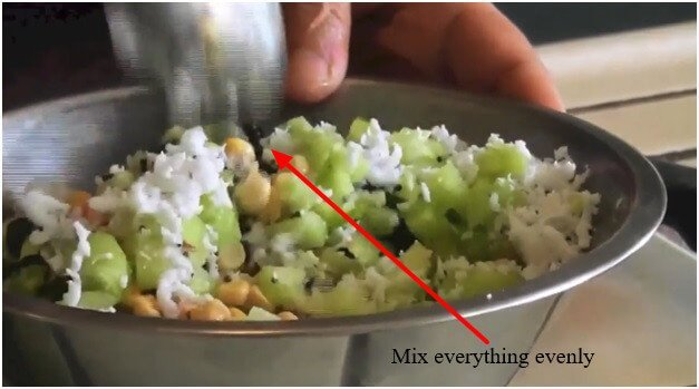 Mix everything evenly