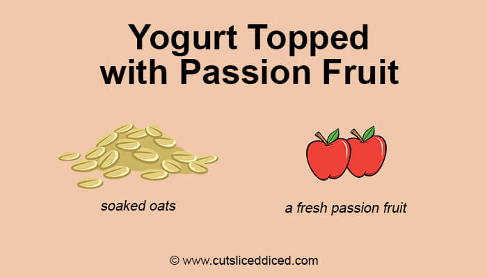Yogurt Topped with Passion Fruit