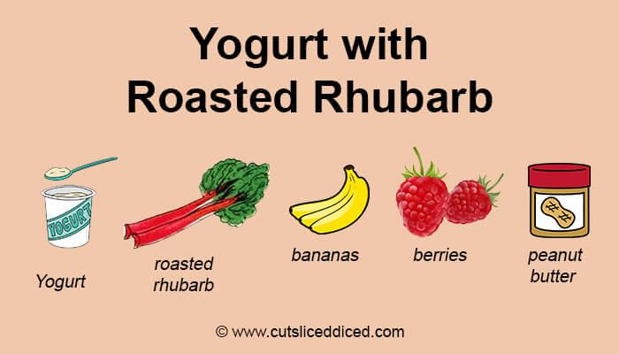Yogurt with roasted rhubarb